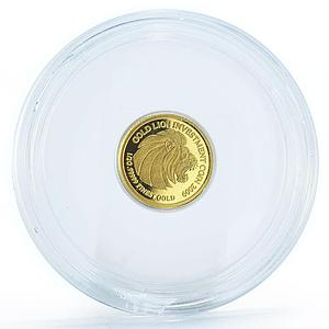 Laos 500 kip Gold Lion Investment proof gold coin 2009