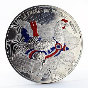 France 50 euro Jean-Paul Gaultier national symbol silver coin 2017