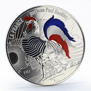 France 50 euro Jean-Paul Gaultier Coq Mariniere proof silver coin 2017