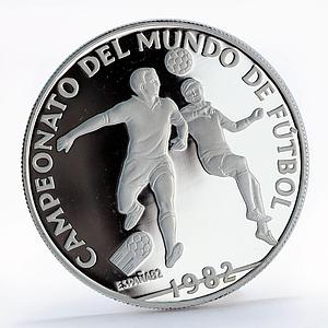 Panama 10 balboas Champions of Soccer Football proof silver coin 1982