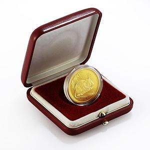 Australia 50 dollars Year of the Mouse Lunar Series II BU 1/2 oz gold coin 2008