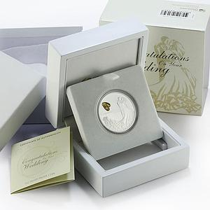 Australia 1 dollar Congratulations Wedding Rings colored proof silver coin 2016