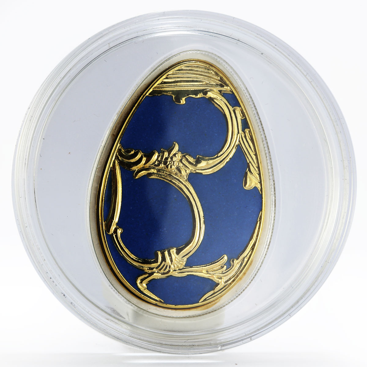 Cook Islands 5 dollars Imperial Eggs in Cloisonne Egg in Blue silver 2010