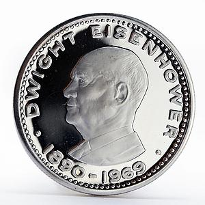 Ras al-Khaimah 10 riyals Dwight Eisenhower proof silver coin 1970