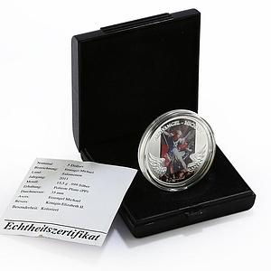 Solomon Islands 5 dollars Archangel Michael Heaven colored silver proof 2011