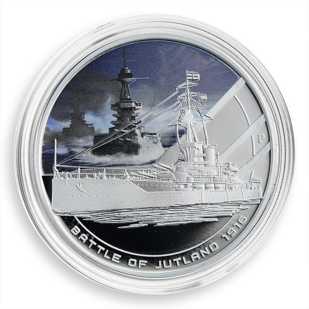 Cook Islands 1 dollar Great Naval Battle of Jutland, ships, proof coloured 2011