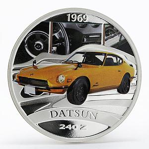 Tuvalu 1 dollar Legendary Sports Cars 1969 Datsun 240 Z silver coin 2006