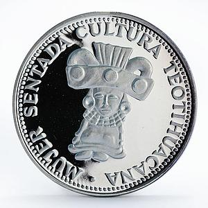 Paraguay 150 guaranies Teotihucana Culture csulpture proof silver coin 1973