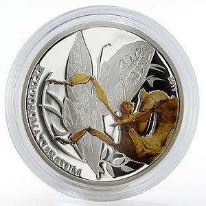 Palau 2 dollars Spiny Leaf Insect colored proof silver coin 2011