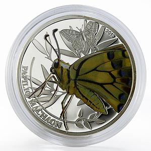 Palau 2 dollars Swallowtail colored proof silver coin 2013