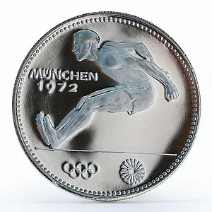 Paraguay 150 guaranies Munich Olympics Broad Jumper proof silver coin 1972