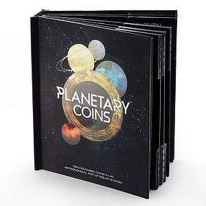 Australia set of 10 coins Planetary Astronomical Solar System album 2017