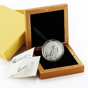 Cook Island 5 dollars Dmitri Mendeleev сhemistry physics proof silver coin 2012