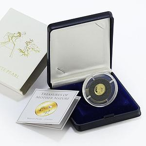 Fiji 10 dollars White Pearl Fish Great Wall proof gold coin 2012