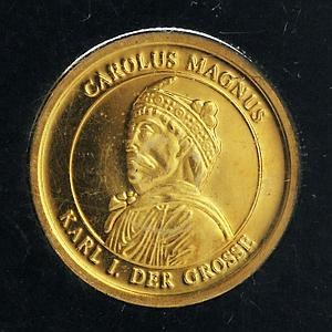 Germany 50 euro Carolus Magnus Karl I Great Personalities gold proof coin 1996
