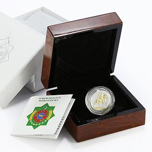 Turkmenistan 20 manat 20th Anniversary Independence Oguz Khan proof silver 2011
