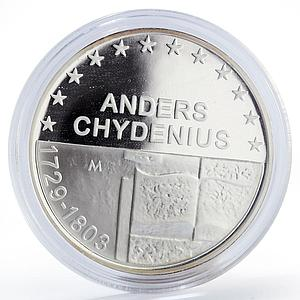 Finland 10 euro Anders Chydenius Book proof silver coin 2003
