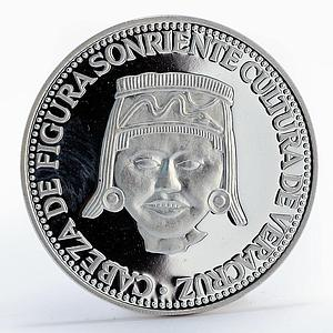 Paraguay 150 guaranies Veracruz Culture Sculpture proof silver coin 1973