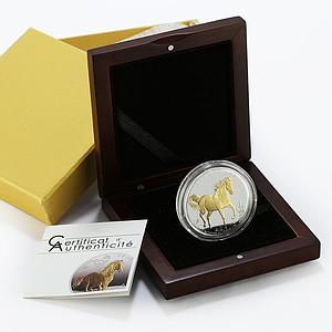 Togo 1000 francs Year of the Horse gilded proof silver coin 2014