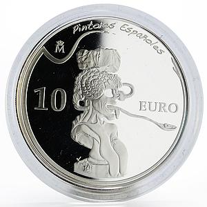 Spain 10 euro Salvador Dali Portrait of Picasso painter proof silver coin 2009