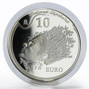 Spain 10 euro Salvador Dali Portrait of Gala painter proof silver coin 2009