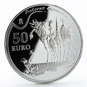 Spain 50 euro Salvador Dali Temptation of Saint Anthony artist proof silver 2009