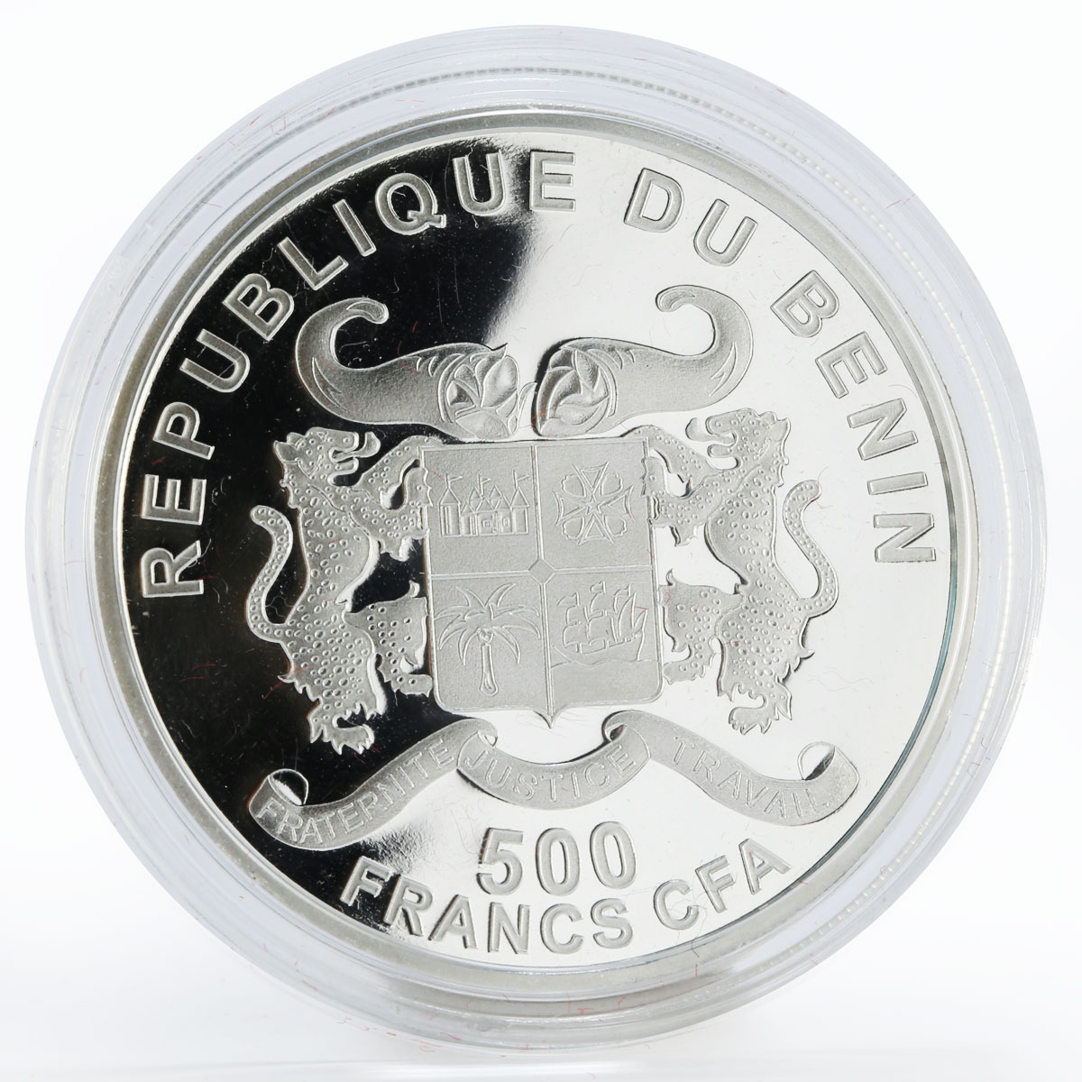 Benin 500 francs 85 Years of Vatican City State colored proof silver coin 2014