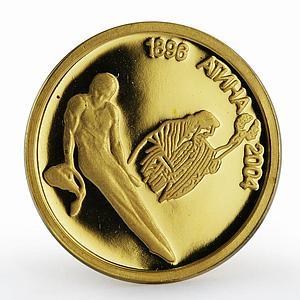 Bulgaria 5 leva Olympic Games Gymnastics Athens sport proof gold coin 2002