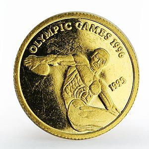Samoa 10 tala Discus Thrower 1996 Summer Olympics proof gold coin 1995