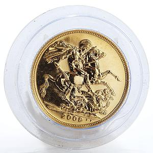 Britain Sovereign George slaying dragon Proof gold coin 2009 Box and CoA