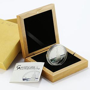 Palau 5 dollars 7 Wonders Lighthouse of Alexandria colored proof silver 2009