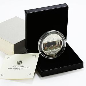 Cook Islands 20 dollars The Last Supper art crystals colored silver coin 2008