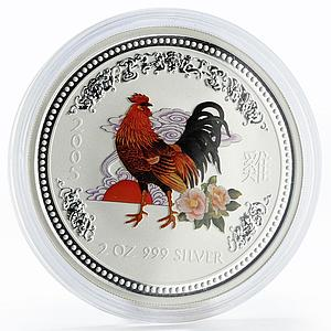 Australia 2 dollars Year of the Rooster Lunar Series I 2 oz silver coin 2005