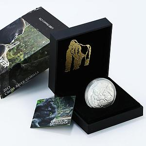 Cameroon 1000 francs Two Cross River Gorilla proof silver coin 2012