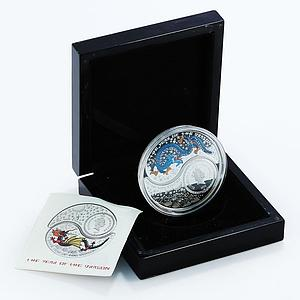 Fiji set 2 coins Year of the Dragon Ying Yang colored proof silver 2012