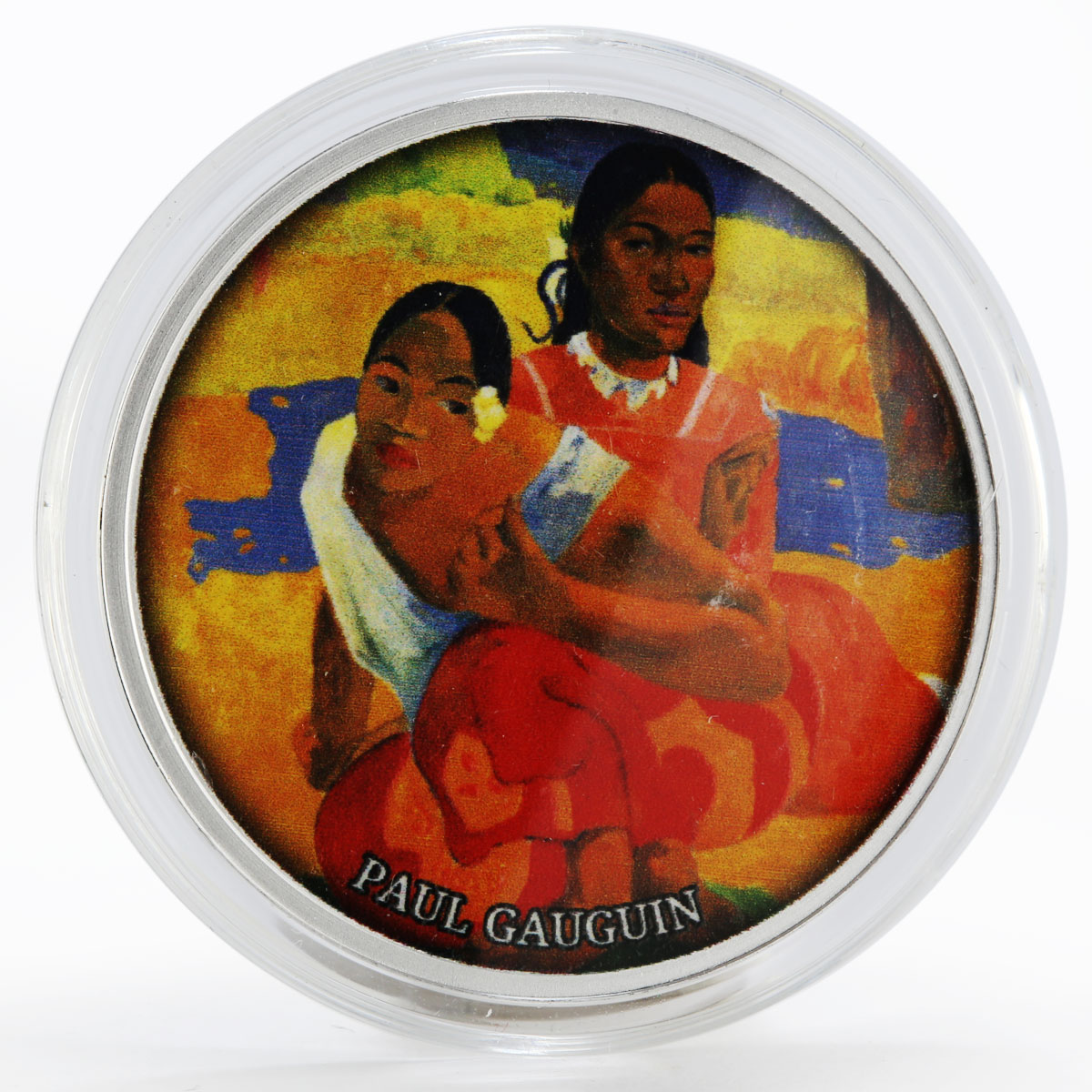 Cameroon 500 francs When Will You Merry Gauguin colored proof silver coin 2017