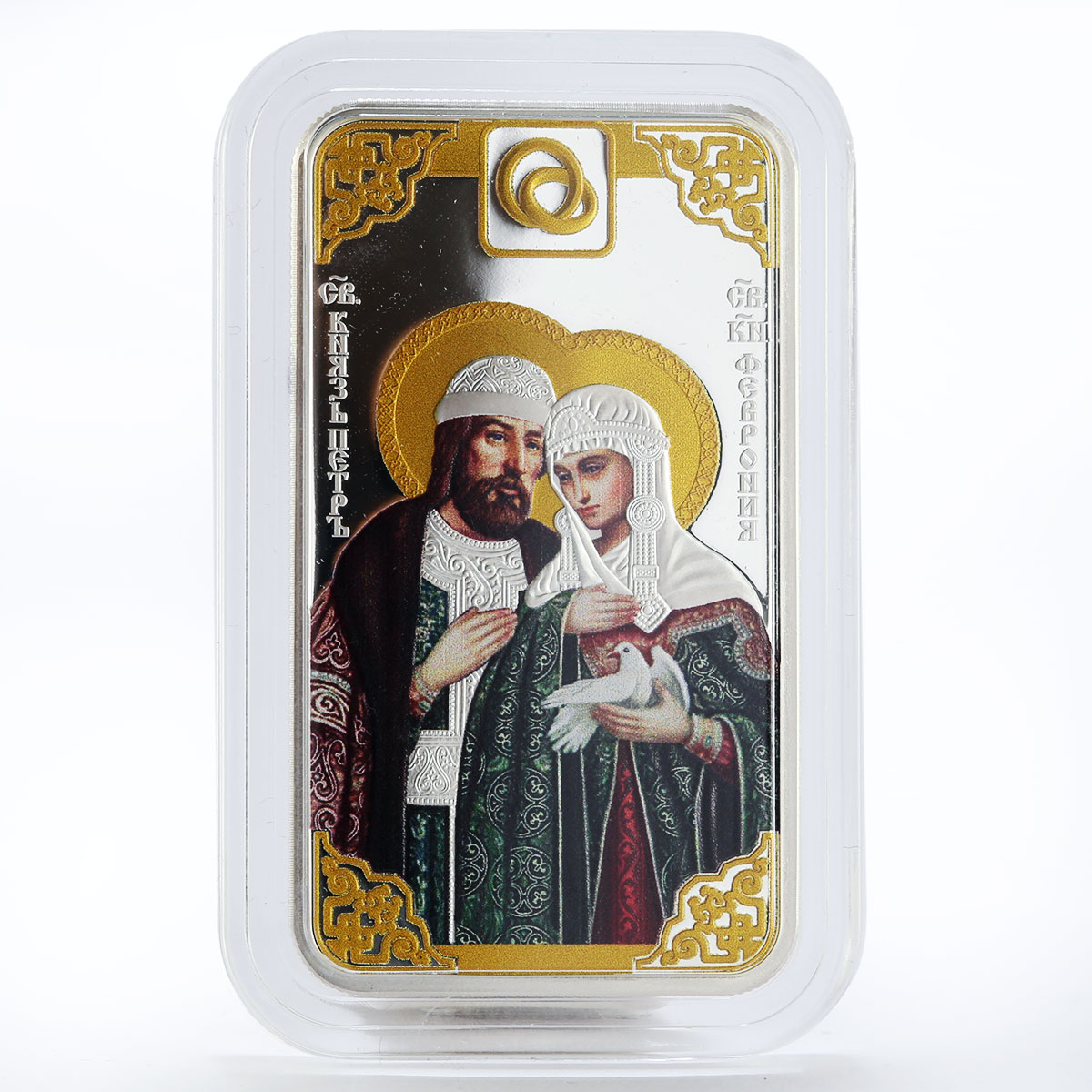 Cameroon 1000 francs Saints Pyotr and Fevronia colored proof silver coin 2019