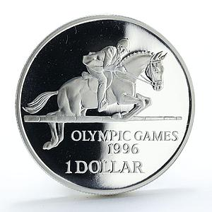 Bermuda 1 dollar Olympic Games proof silver coin 1996