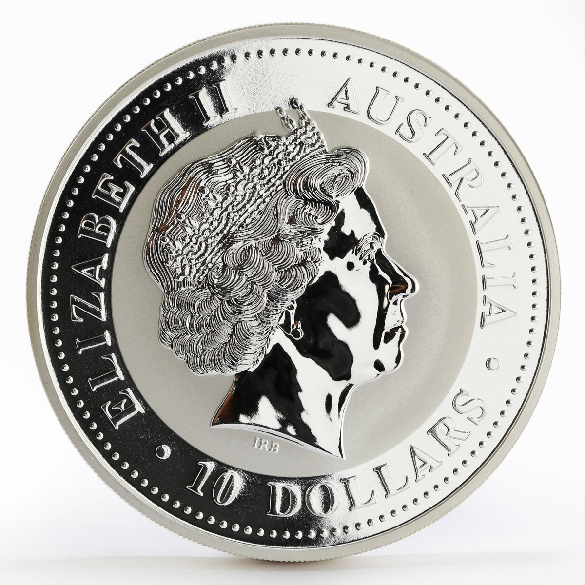 Australia 10 dollars Year of the Dog Lunnar Series I 10 oz Silver Coin 2006