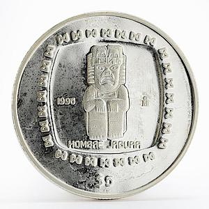 Mexico 5 pesos Statue Hombae Jaguar proof silver coin 1996