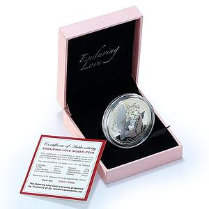 Tokelau 5 Dollars Enduring Love Silver Coloured Proof Coin 2012