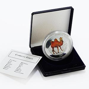 Mongolia 500 togrog Camelus Ferus camel colored silver proof coin 2007