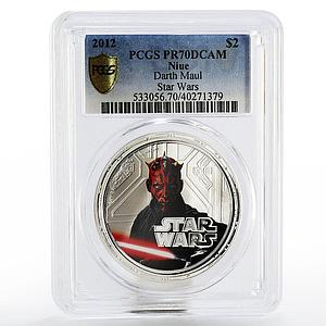Niue 2 dollars Star Wars Darth Maul PR-70 PCGS proof silver coin 2012