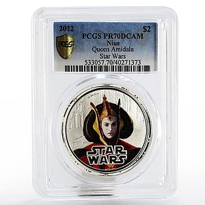 Niue 2 dollars Star Wars Queen Amidala PR-70 PCGS proof silver coin 2012