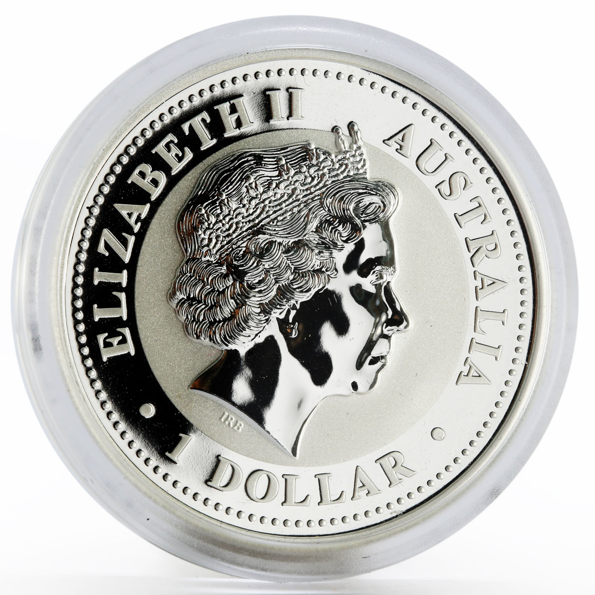 Australia 1 dollar Year of the Pig Lunar Series I gilded silver coin 2007