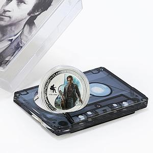 Benin 1000 francs Vladimir Vysotsky colored proof silver coin 2015