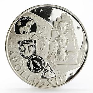 Fujairah 10 riyals Apollo XII Moon Landing Program proof silver coin 1970
