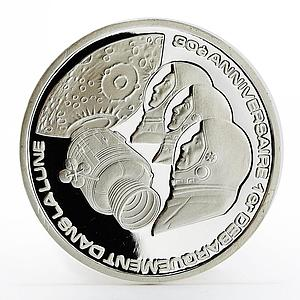 Togo 500 francs Apollo XI Astronauts proof silver coin 1999