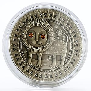 Belarus 20 rubles Zodiac Signs series Leo silver coin 2009