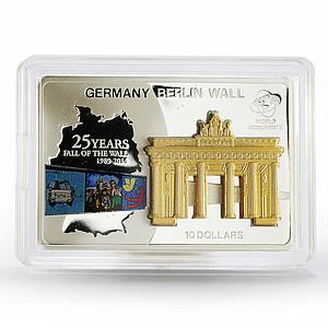 Cook Islands 10 dollars 25 Years Fall of the Berlin Wall proof silver coin 2014